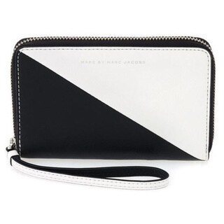 Marc by Marc Jacobs 'Wingman Sophisticato' Black and White Sliced Wallet