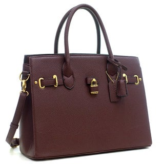 Dasein Satchel with Gold-Tone Lock Deco