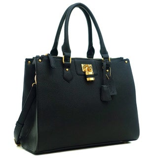 Dasein Buffalo Faux Leather Double Zip Tote