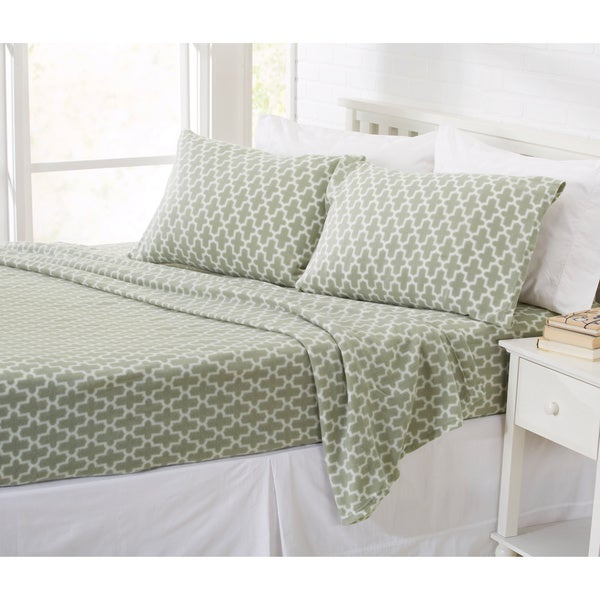 Langham Printed Fleece Sheet Set