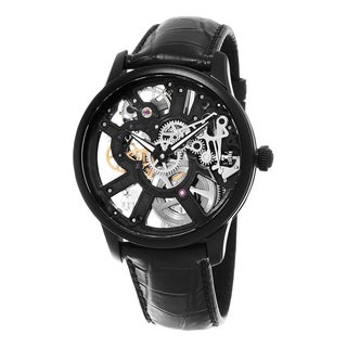Maurice Lacroix Men's MP7228-PVB01-002 'Master Piece Squelette' Skeleton Dial Black Leather Strap Swiss Mechanical Watch