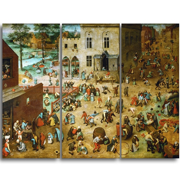 Design Art 'Pieter Bruegel - Childrens Games' Canvas Art Print