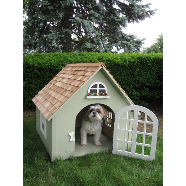 Green Victorian Dog House