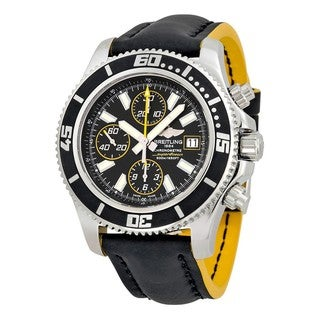 Breitling Men's A13341A8-BA82RU 'Superocean' Chronograph Automatic Black Rubber Watch