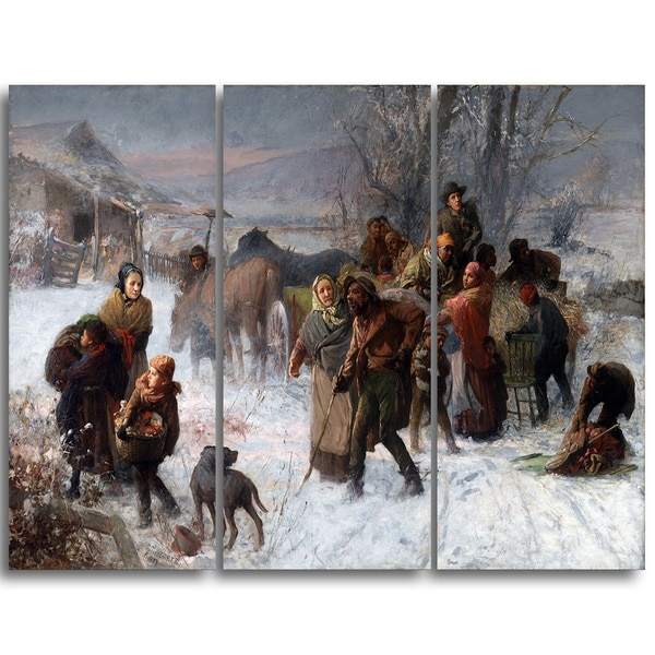 Design Art 'Charles T. Webber - The Underground Railroad' Canvas Art Print