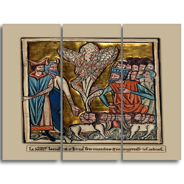 Design Art 'William de Brailes - The Eighth Plague' Religious Canvas Art
