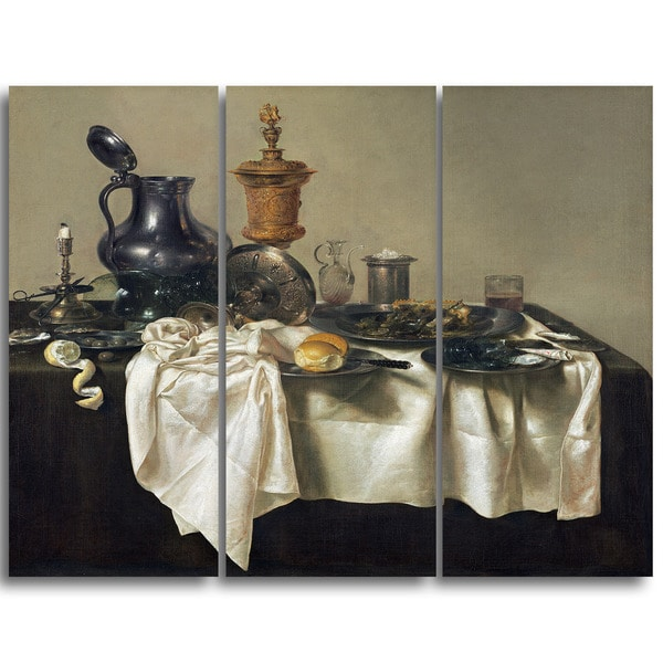 Design Art 'Willem Claesz H - Banquet Piece with Mince Pie' Canvas Art Print