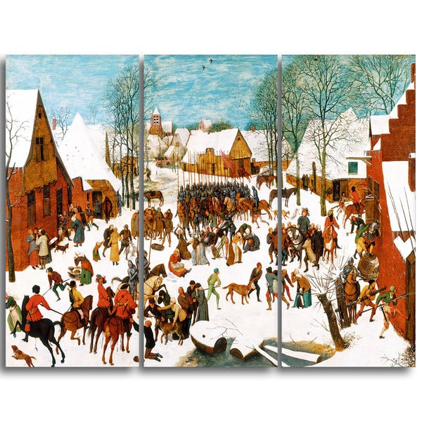 Design Art 'Pieter Bruegel - Massacre of the Innocents' Canvas Art Print