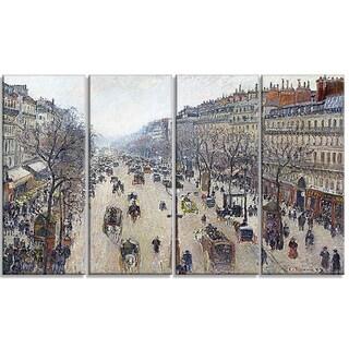 Design Art 'Camille Pissarro - Boulevard Montmartre' Canvas Art Print