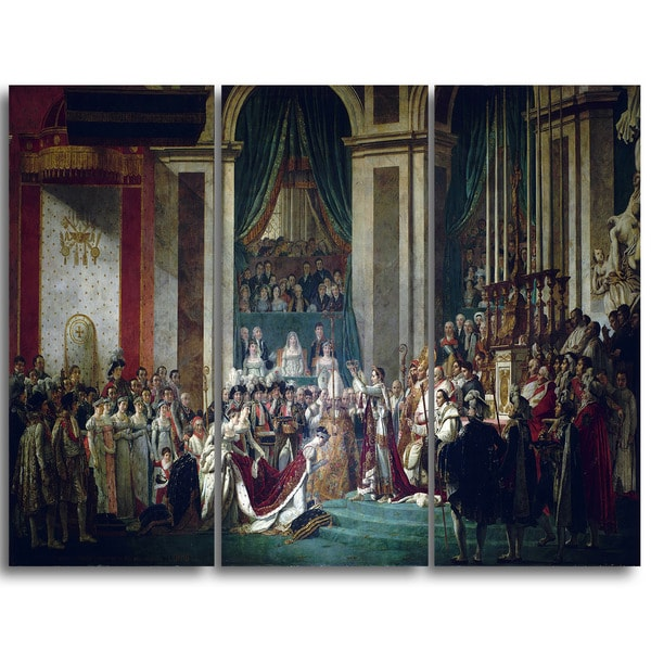 Design Art 'Jacques Louis David - Coronation of Emperor Napoleon I' Canvas Art Print