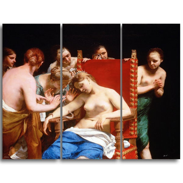 Design Art 'Guido Cagnacci - The Death of Cleopatra' Canvas Art Print