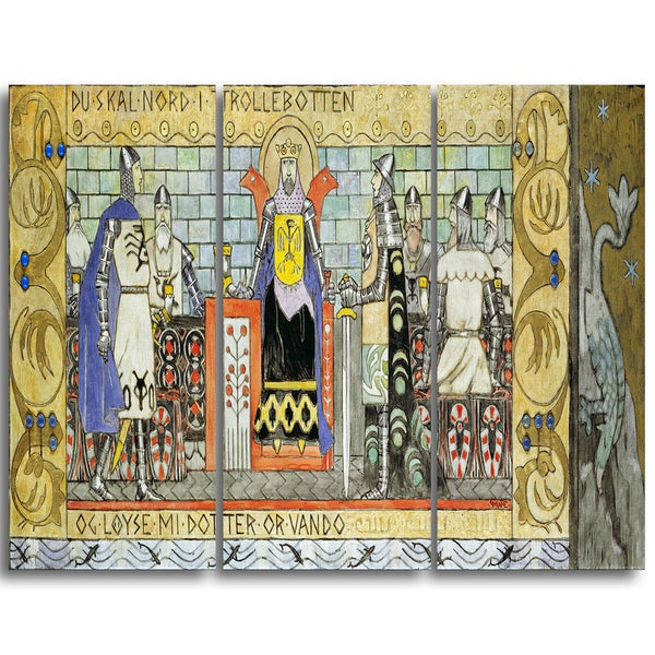 Design Art 'Gerhard Munthe - Asmund in the King's Hall' Canvas Art Print