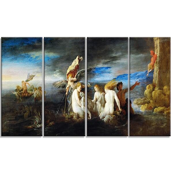 Design Art 'Domenico Fetti - Hero Mourning the Dead Leander' Canvas Art Print