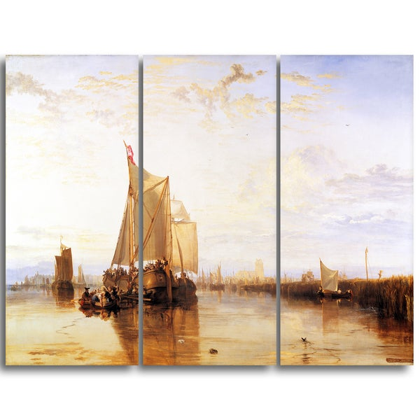 Design Art 'JMW Turner - The Dort Packet-Boat from Rotterdam Becalmed' Canvas Art Print