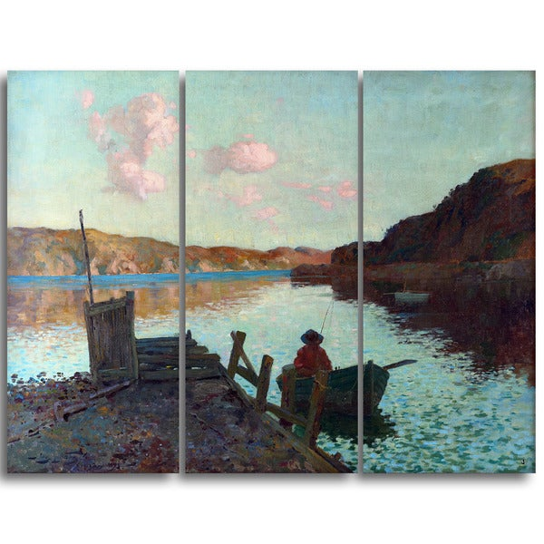 Design Art 'James M. Nairn - Evans Bay' Canvas Art Print