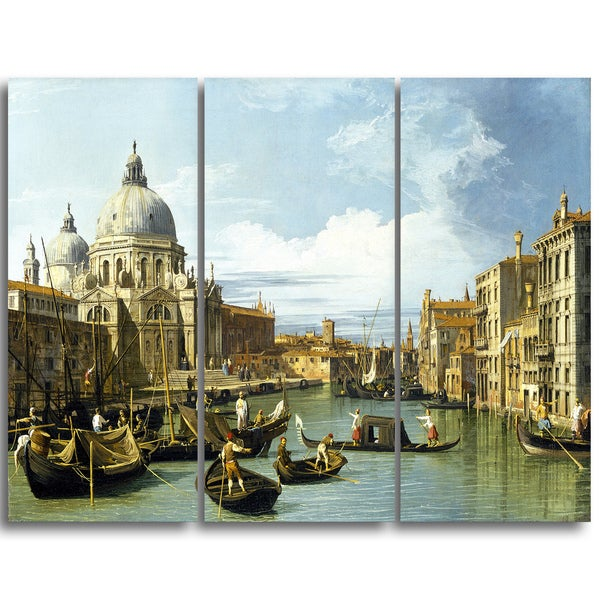 Design Art 'Canaletto - The Entrance to the Grand Canal' Canvas Art Print