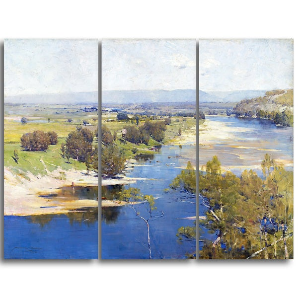 Design Art 'Arthur Streeton - The Purple Noon's Transparent Might' Canvas Art Print