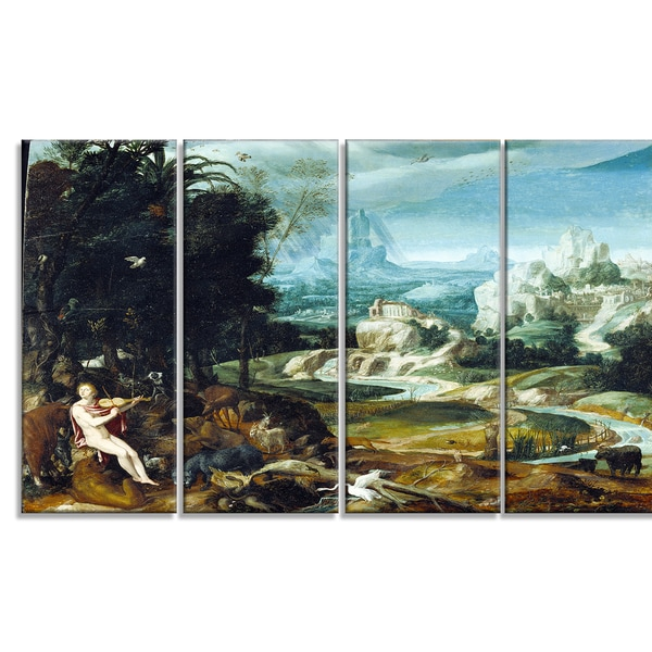 Design Art 'Nicolas Poussin - Landscape with Orpheus' Canvas Art Print