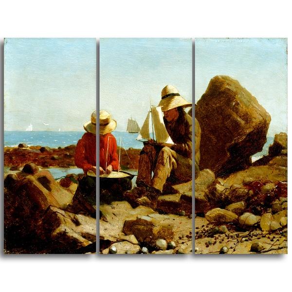 Design Art 'Winslow Homer - The Boat Builders' Canvas Art Print