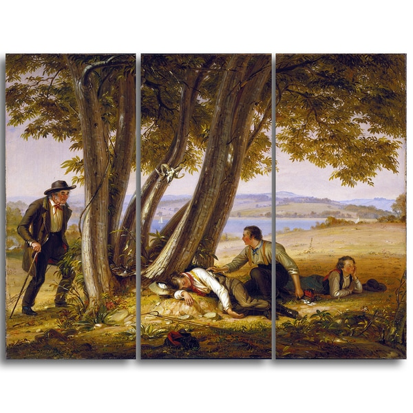 Design Art 'William Sidney Mount - Boys Caugh Napping in a Field' Canvas Art Print 16439326