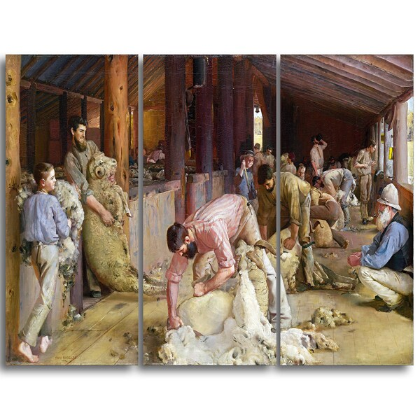 Design Art 'Tom Roberts - Shearing the Rams' Canvas Art Print