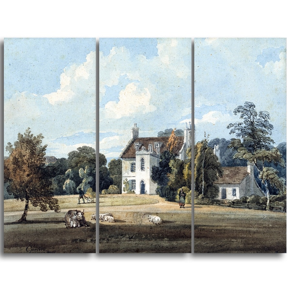 Design Art 'Thomas Girtin - Chalfont Lodge' Canvas Art Print