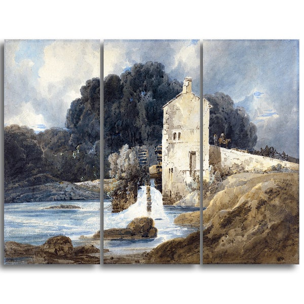 Design Art 'Thomas Girtin - The Abbey Mill' Canvas Art Print