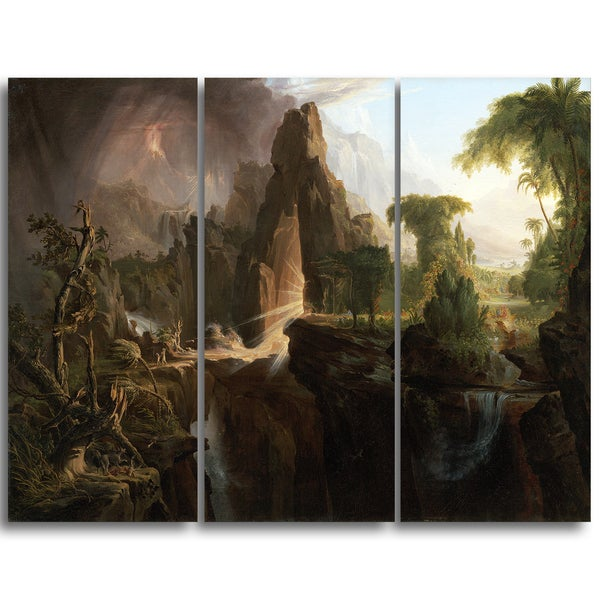 Design Art 'Thomas Cole - Expulsion from the Garden of Eden' Canvas Art Print