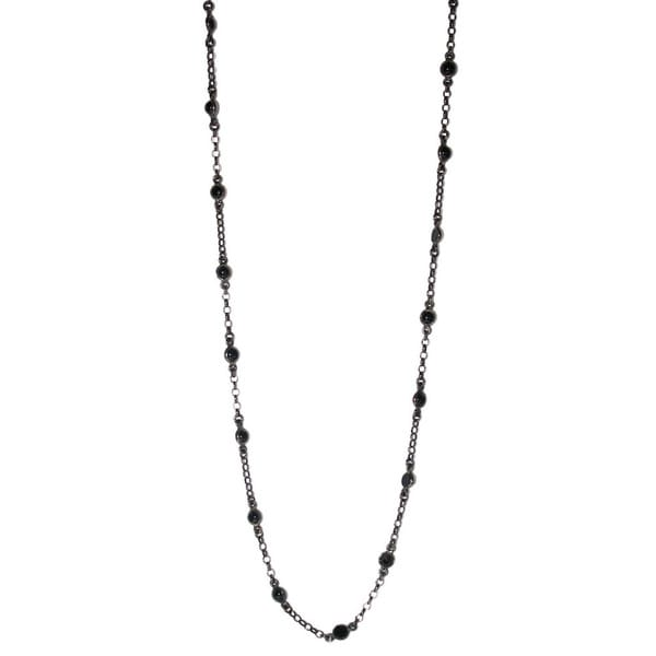 Sterling Silver Black Onyx Chain Necklace