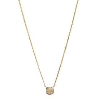 14k Yellow Gold 1/10ct TDW White Diamond Necklace