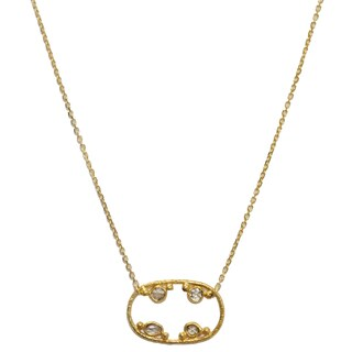 18k Yellow Gold and 1/2ct TDW Diamond Necklace