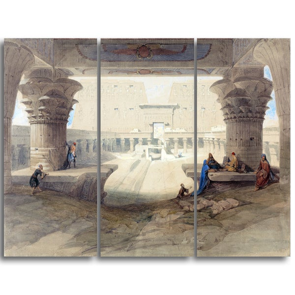 Design Art 'David Roberts - From Under the Portico of the Temple' Landscape Canvas Arwork
