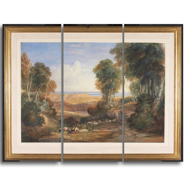 Design Art 'David Cox - The Junction of the Severn and the Wye' Landscape Canvas Arwork