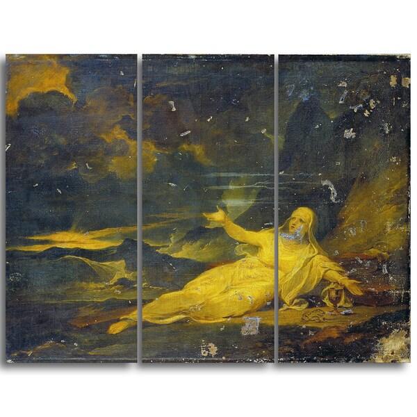Design Art 'Sir Peter Francis Bourgeois - Religion in the Desert' Landscape Canvas Arwork
