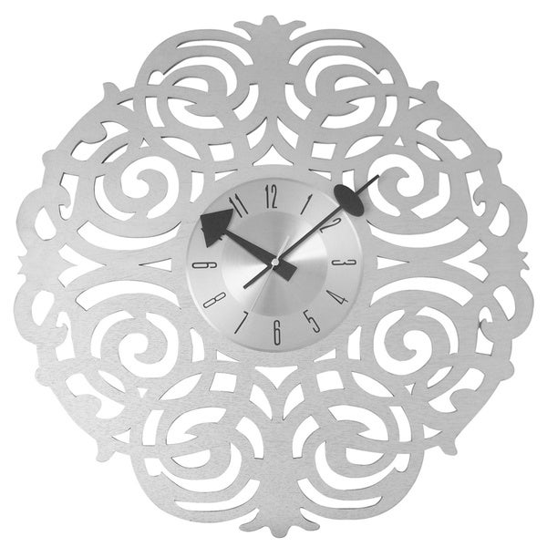 Mid Century Modern Clock in handmade twine