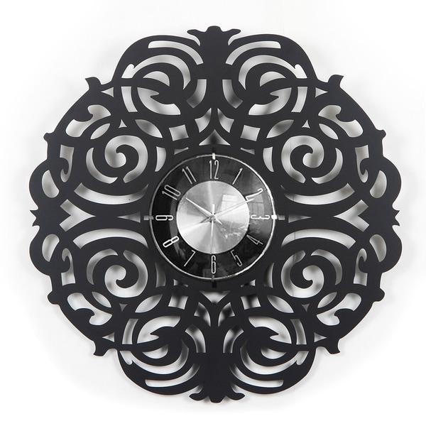Mid-century Modern Handmade 20-inch Wood Twine Clock