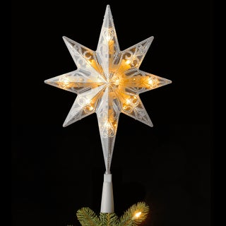 11-inch Tree Top Star with Warm White LED Lights
