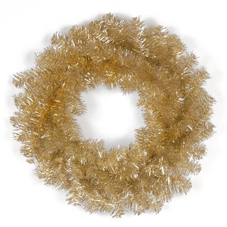 Champagne 24-inch Tinsel Wreath