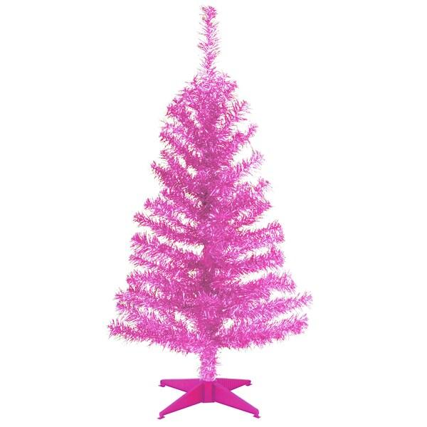 Pink 3-foot Tinsel Tree