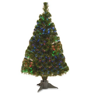 32-inch Battery Operated Fiber Optic Ice Tree