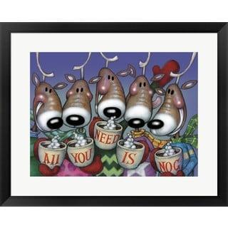 Margaret Wilson 'Deer Nog' Framed Art