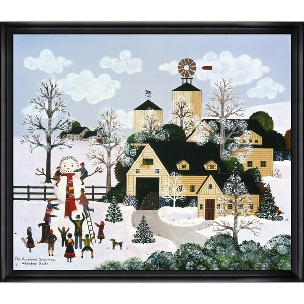 Jane Wooster Scott 'The Awesome Snowman' Framed Art