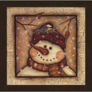 Kim Lewis 'Snowman II' Framed Art