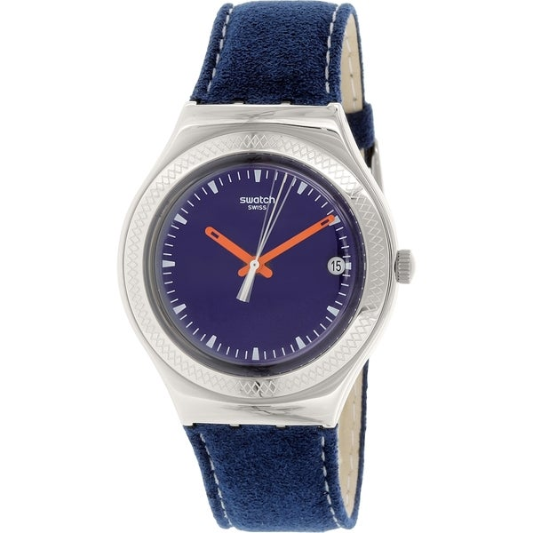 Swatch Women's Irony YGS468 Blue Leather Swiss Quartz Watch