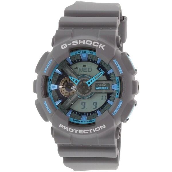 Casio Men's G-Shock GA110TS-8A2 Grey Rubber Quartz Watch