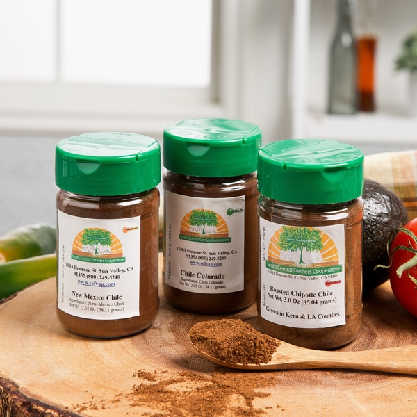 South Central Farmers Ground Chile Powder Sampler (Set of 3)