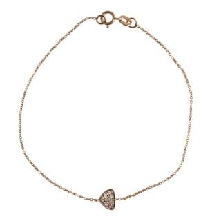 14k Rose Gold Diamond Accent Bracelet