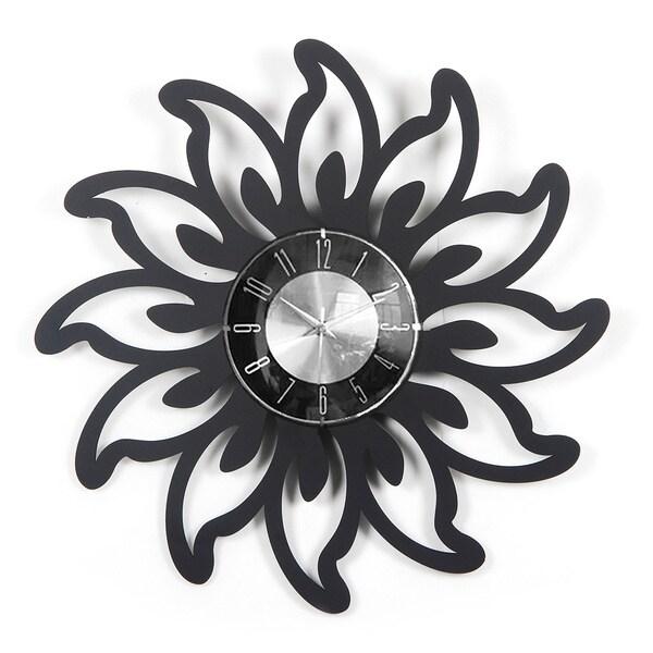 Mid-century Modern Vintage Design 20-inch Wood Petal Clock