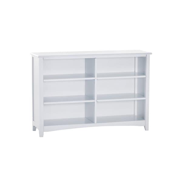 School House White Horizontal Bookcase