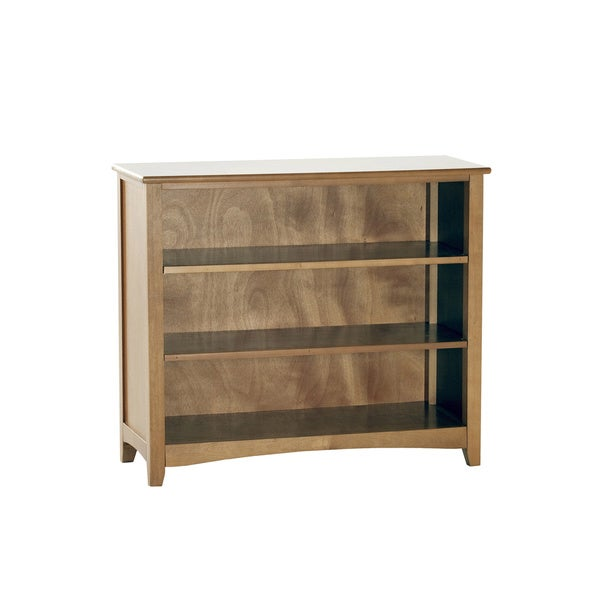 School House Short Pecan Vertical Bookcase